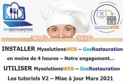 Installer - Utiliser GesRestauration - MysolutionsWEB - Mars 2021