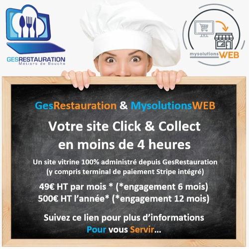 "GesRestauration + Click & Collect MysolutionsWEB "" offert*"" pendant 12 mois"